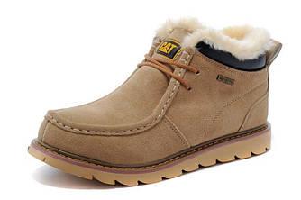 Зимние ботинки Caterpillar Winter Boots Dark Cream (ТОП реплика)