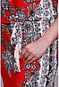 Яркое нарядное красное летнее платье женское с внутреннимпоясом трикотаж масло, фото 3