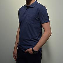 6a15df576918c Размеры:46/48,50,56. Мужская футболка Поло / премиум качество, 100% хлопок,  тенниска с карманом - синий меланж