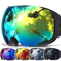 Горнолыжные / сноубордические очки (маска) COPOZZ GOG-2181 UV400 anti-fog двойная линза