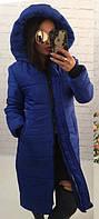 Женское удлиненное пальто очень теплое  ам246, фото 1