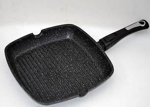 Сковорода-гриль со съемной софт-тач ручкой. Мраморное покрытие. Benson (Германия)