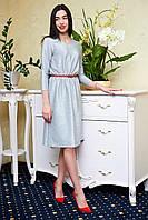 Светло-серое платье KELLYс люрексовой нитью