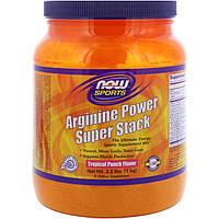 Now Foods, Аргининовый супер порошок для спортсменов, тропический пунш, 2,2 фунта (1 кг)