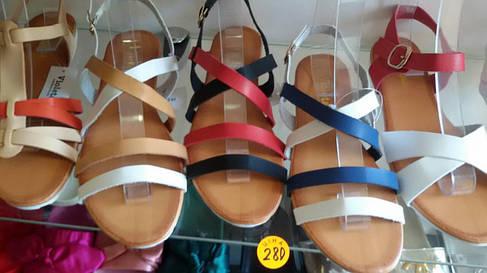 Супер ціна 36-40р Шкіряні (екошкіра) босоніжки, сандалі пр. Туреччина (чорні і червоні палітурки), фото 2
