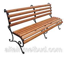 """Лавка садово-парковую трьохопорная""""Запад""""с металическими ножками"""