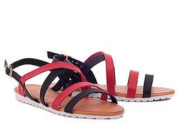 Супер цена 36-38р Кожаные ( экокожа) босоножки сандалии пр.Турция (черные и красные переплеты)