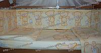 Бампер и комплект постельки в детскую кроватку