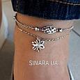 Серебряный браслет на ногу без камней - Браслет на ногу Серебро 925, фото 3
