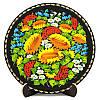 Тарелка деревянная. Украинский сувенир. Петриковская роспись.