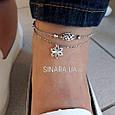 Серебряный браслет на ногу без камней - Браслет на ногу Серебро 925, фото 2