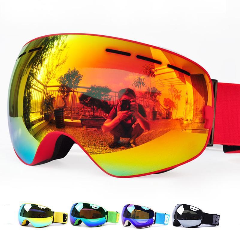 Гірськолижні / сноубордні окуляри (маска) BE NICE SNOW-3100 UV400 anti-fog подвійна лінза