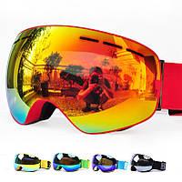 Гірськолижні / сноубордні окуляри (маска) BE NICE SNOW-3100 UV400 anti-fog подвійна лінза, фото 1