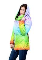 """Женская зимняя куртка 3D """"Ёжик в тумане"""""""