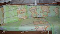 Бампер, бортики защитные в детскую кроватку Бампер, бортики защитные в детскую кроватку Зеленый