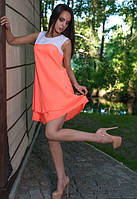 Персиковое платье на лето
