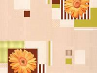 Обои на кухню,прихожею,спальню цвет (персиковый), винил, B49.4 Гербера 5616-02