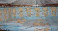 Бампер, бортики защитные в детскую кроватку Бампер, бортики защитные в детскую кроватку Голубой