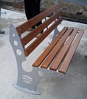 """Лавка садово-парковая""""Евро"""" с металическими ножками"""
