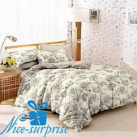 Двойной комплект постельного белья из поплина ЦВЕТЕНИЕ, фото 1