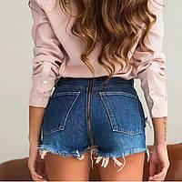 Женский джинсовые шорты с молнией