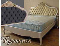 """Кровать двуспальная деревянная  """"Принцесса"""" kr.pr, фото 1"""