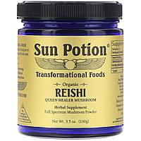 Sun Potion, Органический порошок рейши, 3,5 унц. (100 г)