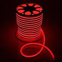 Светодиодный неон 220v красный IP65