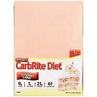 Universal Nutrition, Батончик для диетического питания CarbRite, праздничный торт, 12 батончиков, 56,7 г (2 унции) каждый