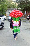 Букет сердец с бабочкой из воздушных шаров