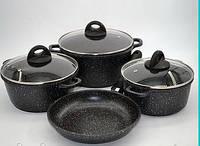 Набор посуды 7 предметов (Мраморное покрытие) - Benson (Германия)