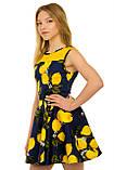 Прекрасное летнее платье с оригинальным принтом для девочек 134-164р, фото 2