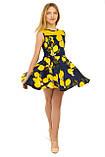 Прекрасное летнее платье с оригинальным принтом для девочек 134-164р, фото 4