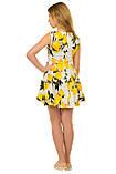 Очаровательное летнее платье с оригинальным принтом для девочек 134-164р, фото 2