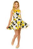 Очаровательное летнее платье с оригинальным принтом для девочек 134-164р, фото 3