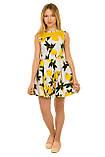 Очаровательное летнее платье с оригинальным принтом для девочек 134-164р, фото 4