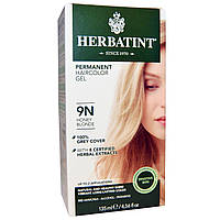 Herbatint, Стойкий растительный гель-краска для волос, 9N, медовый блонд, (135 мл)