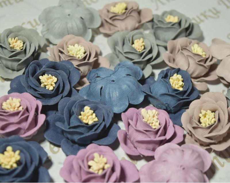 Декоративные головки цветов розы