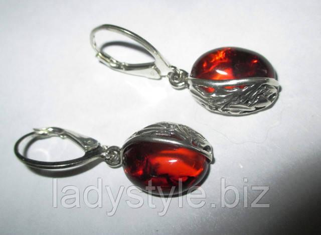 купить серьги с гранатом натуральные камни серебро украшения подарок сувенир юбилей