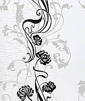 """Обои виниловые """"Очертания цветов"""" универсальные, бледно-серые с черным, 0,53 Х 10 – Эдем 599-20"""