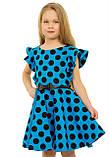 Прелестное летнее хлопковое платье для девочек 128-140р, фото 2