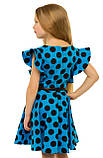 Прелестное летнее хлопковое платье для девочек 128-140р, фото 3