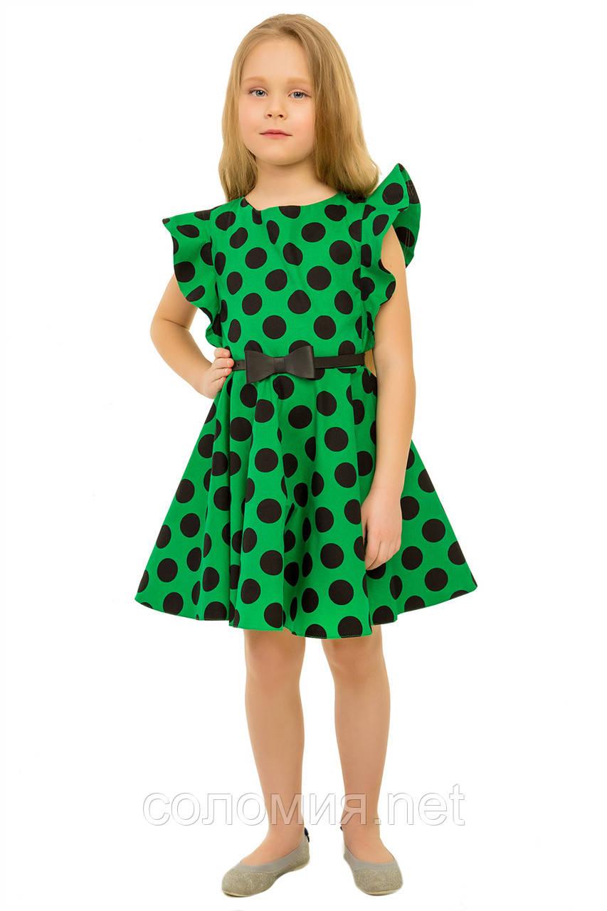 Изумительное летнее хлопковое платье для девочек 128-140р
