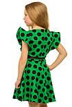 Изумительное летнее хлопковое платье для девочек 128-140р, фото 3