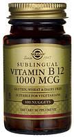 Витамин В12 (цианокобаламин)  Vitamin B 12 Solgar (1000 мкг) 100таб.