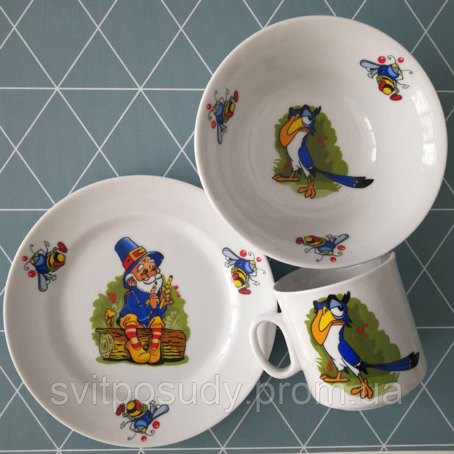 Детский набор посуды на 3 предмета