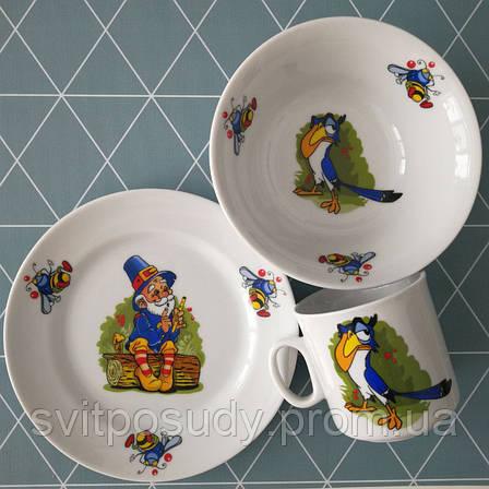 Детский набор посуды на 3 предмета, фото 2