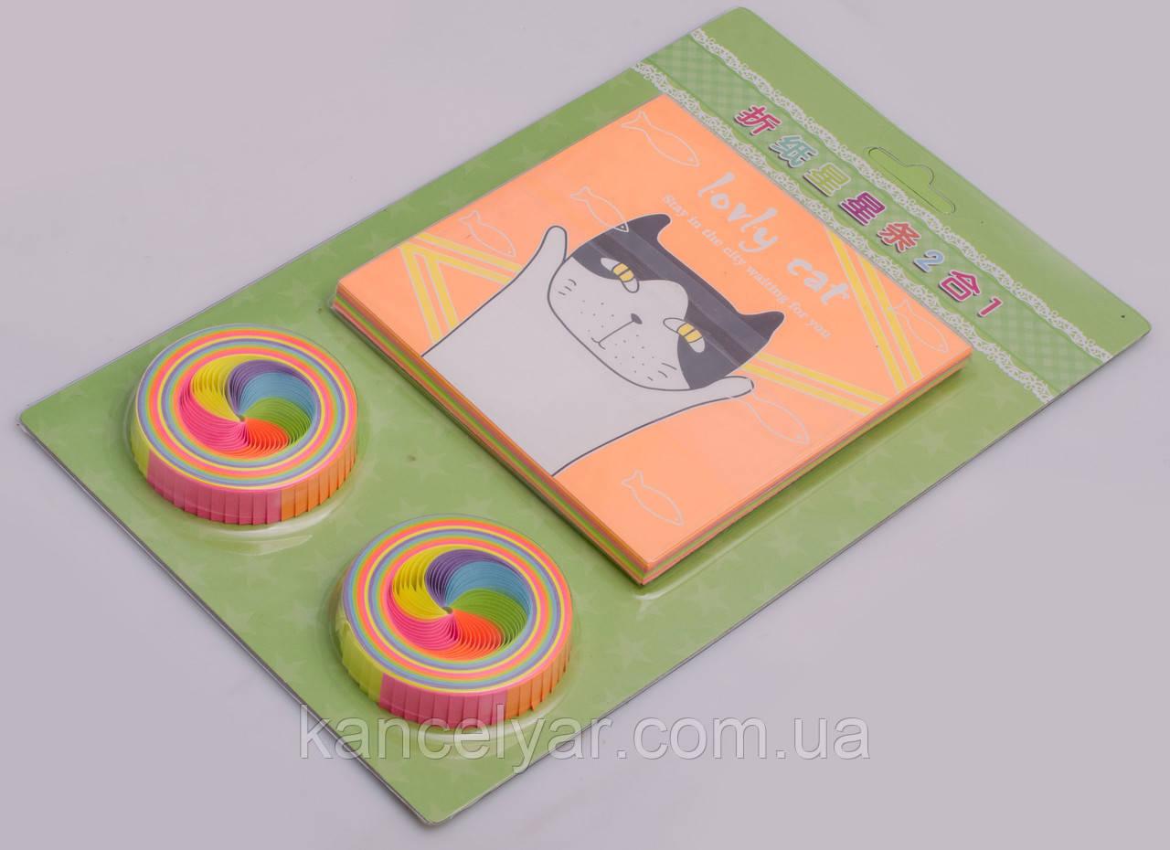 Папір для орігамі: 100 аркушів, 15х24 см