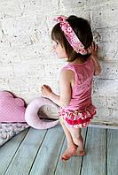 Блумер для девочки + повязка (1,5 -2 года)
