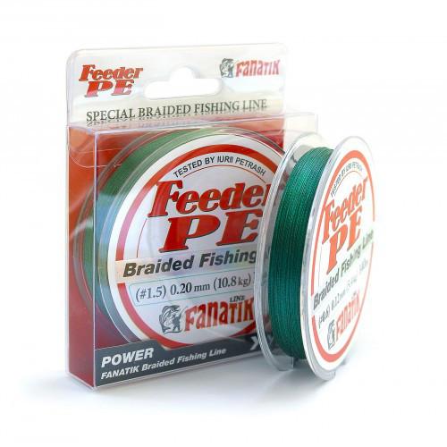 Шнур плетеный Fanatik Feeder PE X4 140 m (#1,5 ) 0,20 мм (Зеленый)